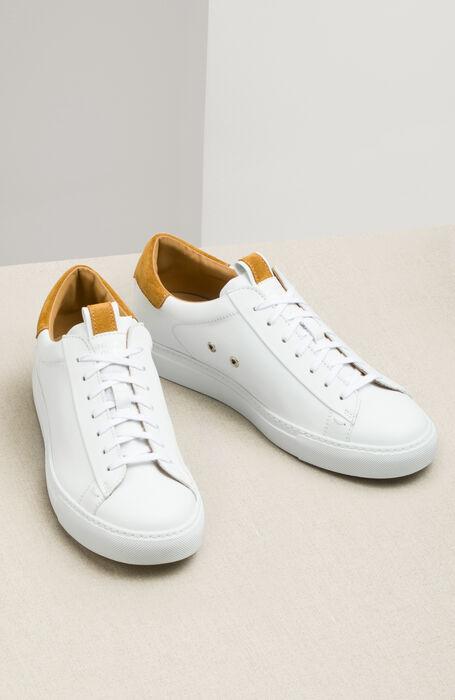 Sneakers in pelle con dettaglio senape in camoscio , Officina Slowear   Slowear
