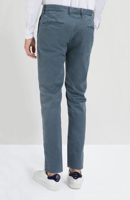 Pantalone Slim Fit in Cotone Stretch Blu Medio , Incotex - Slacks | Slowear