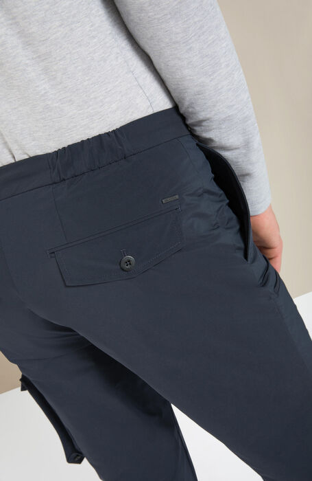 Packable cargo trousers in blue technical fabric , Incotex - Urban Traveller | Slowear