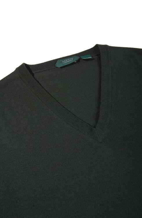 Slim-fit Flexwool V-neck sweater , ZANONE Flexwool | Slowear