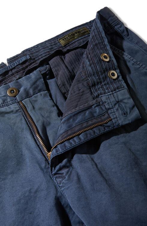 Stretch gabardine slim-fit trousers , Incotex - Slacks | Slowear