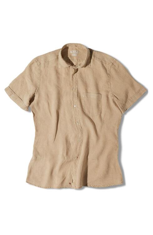 Slim-fit linen shirt , Glanshirt | Slowear