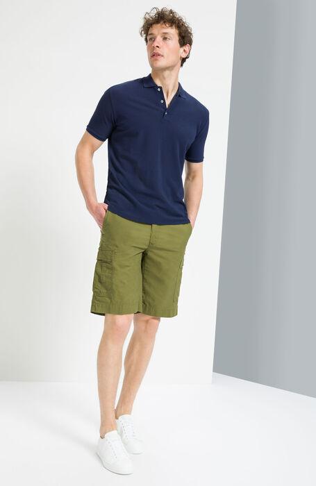 Green Regular Fit Bermuda Cargo Shorts , Incotex - Slacks | Slowear