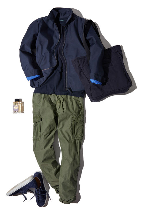 Superlight nylon and cotton tapered-fit cargo trousers , Incotex - Slacks | Slowear