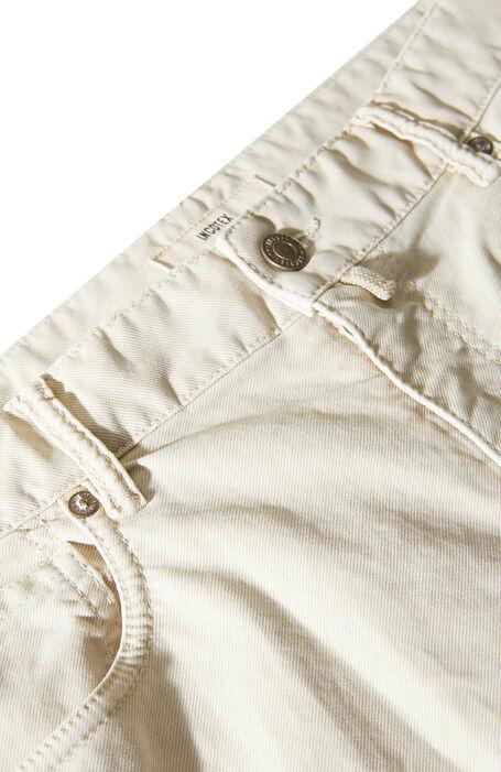 Pantalone cinque tasche regular fit in tricochino stretch bianco , Incotex - Slacks | Slowear
