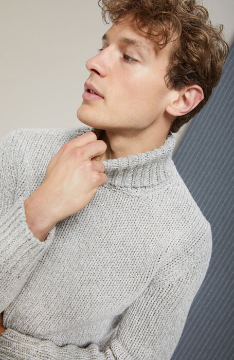 Merino and yak wool turtleneck sweater , Zanone | Slowear