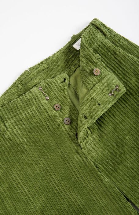 Pantalone slim fit in velluto a coste verde , Incotex - Verve   Slowear