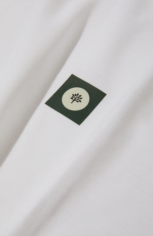 Short-sleeved slim-fit IceCotton T-shirt with The Flag Series patch , ZANONE Icecotton | Slowear