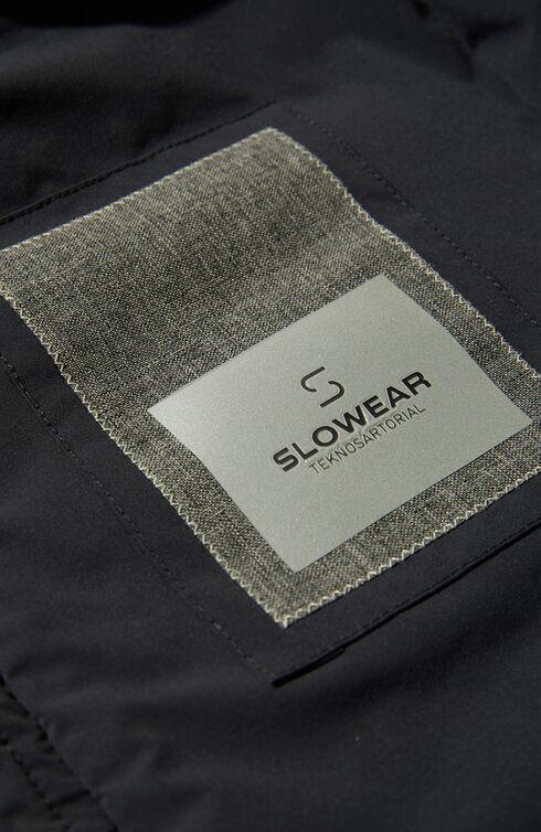 Padded shirt in water repellent bi-stretch tek-nylon , Slowear Teknosartorial | Slowear
