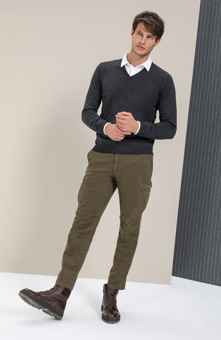 "V-neck ""Flexwool"" sweater , Zanone 
