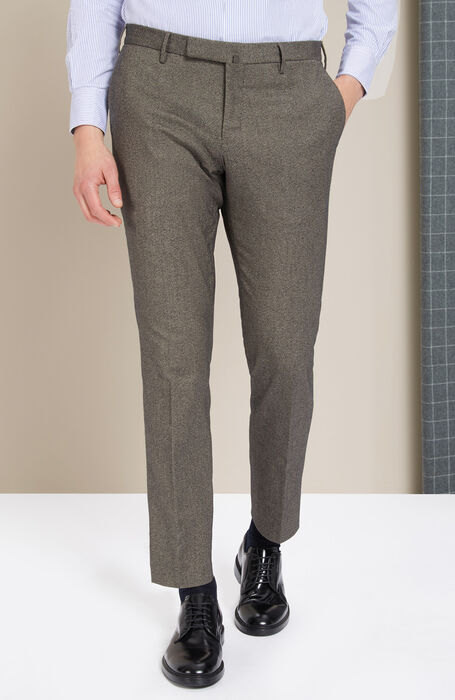 Pantalone slim fit in cashmere touch beige , Incotex - Venezia 1951 | Slowear