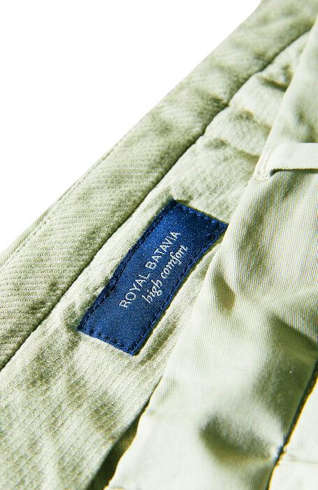 Light green Royal Batavia stretch cotton slim fit trousers , Incotex - Venezia 1951 | Slowear