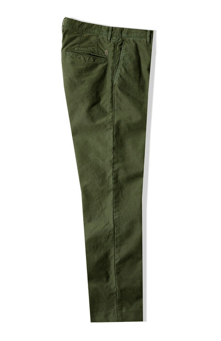 Pantalone slim fit in Tricochino stretch verde , Incotex - Slacks | Slowear