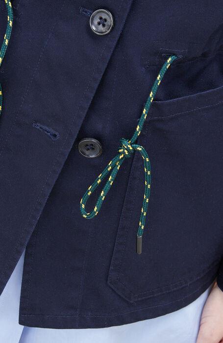 Unlined jacket with blue cotton drawstring , Montedoro | Slowear