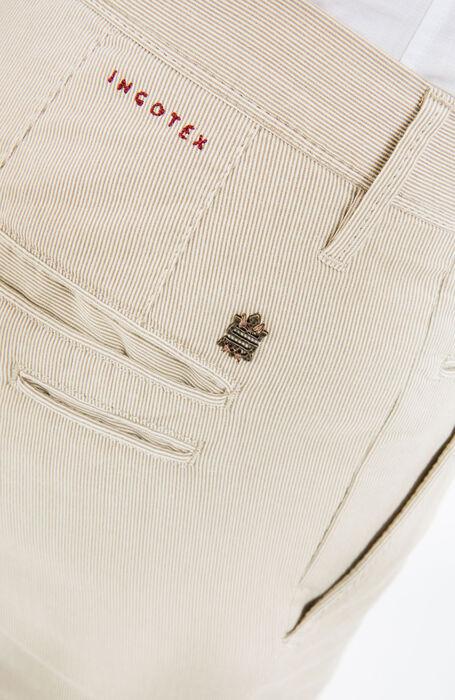 Pantalone Tight Fit in Cotone Stretch Beige , Incotex - Slacks | Slowear