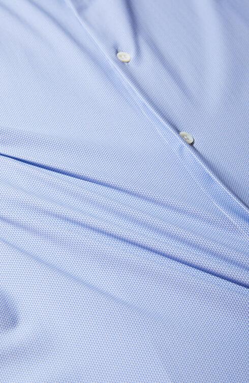 Slim fit wash & wear shirt in technical fabric with print , Glanshirt | Slowear