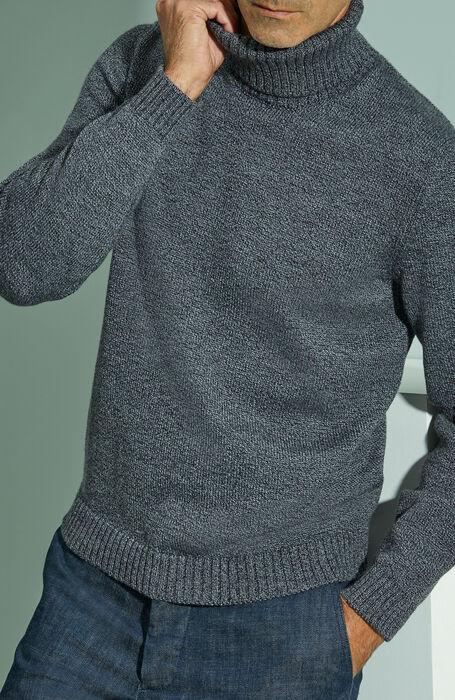Anthracite grey merino wool turtleneck , Zanone | Slowear