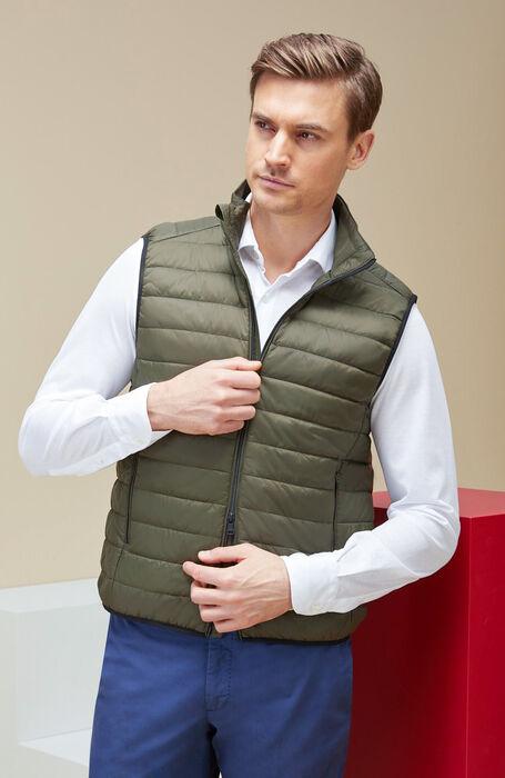 Green padded waistcoat with zip closure , Urban Traveler | Slowear