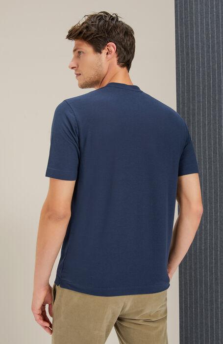 Short sleeve crew neck t-shirt in Zanone IceCotton , Zanone | Slowear