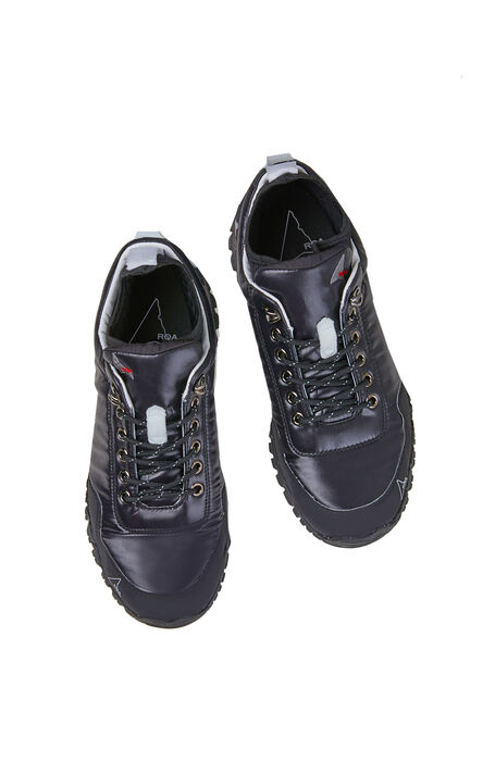 Black leather and nylon outdoor shoe , ROA | Slowear