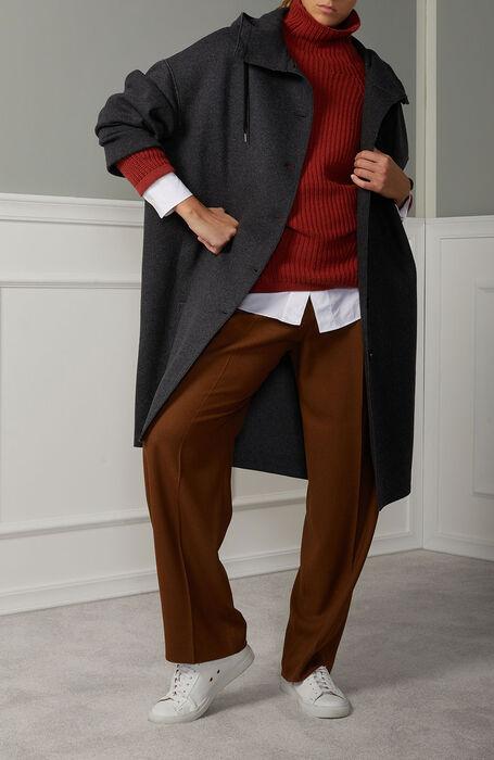 Oversized parka in grey wool , Zanone   Slowear