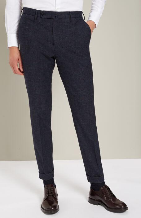Blue slim-fit trousers in washed cotton , Incotex - Venezia 1951 | Slowear