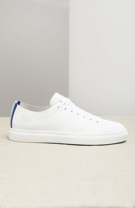 Hammered Calfskin Sneakers with Two-Tone Band , Officina Slowear | Slowear