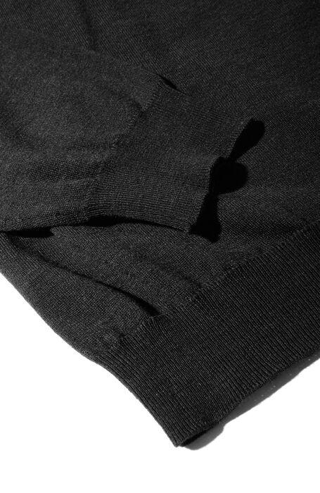 Anthracite Flexwool crewneck sweater , Zanone | Slowear