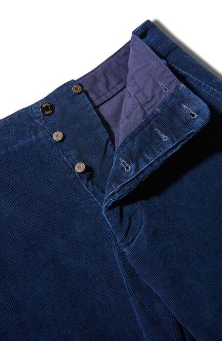 Slim fit blue cord-indigo trousers , Indigo Chino | Slowear