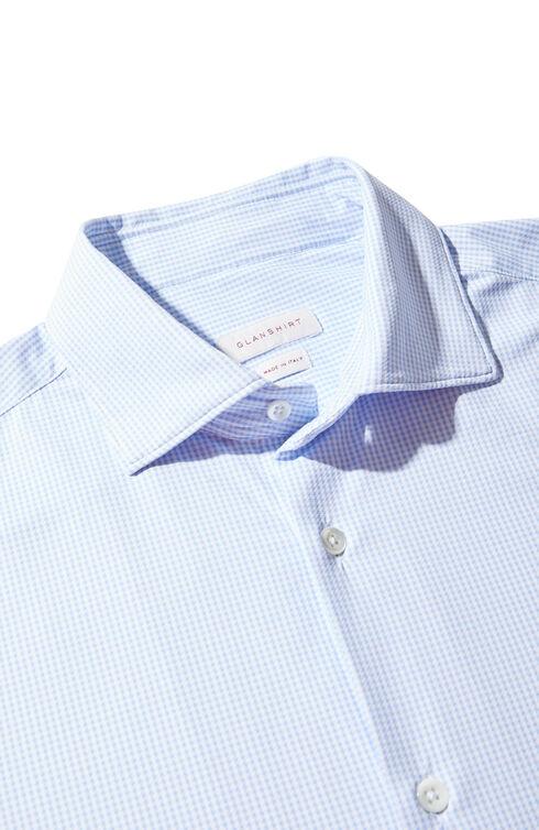 Slim fit wash & wear shirt in technical fabric with print , Glanshirt   Slowear