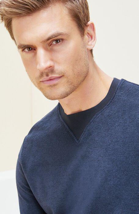 Blue cotton crewneck-sweatshirt , Zanone   Slowear