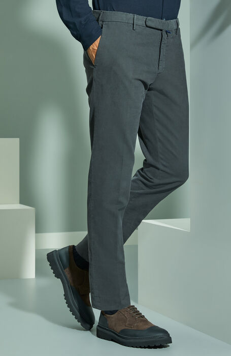 Slim-fit Doeskin anthracite grey trousers , Incotex - Venezia 1951 | Slowear