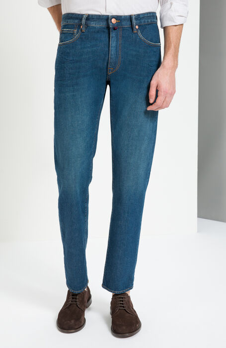 Pantalone Slim Fit Denim Stretch , Incotex - Cinque Tasche | Slowear