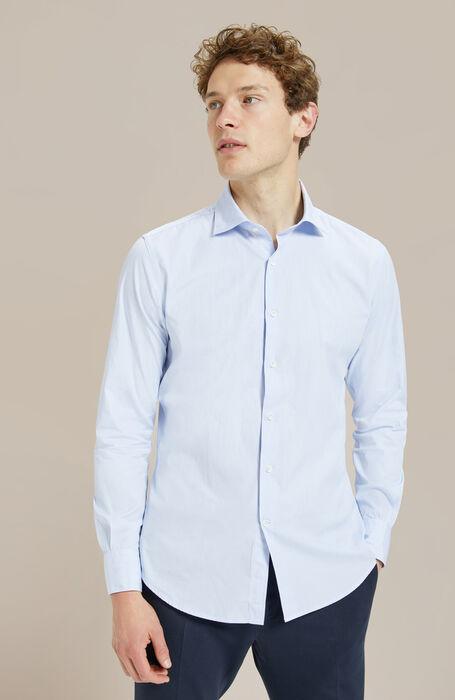 Slim-fit shirt with French collar , Glanshirt | Slowear