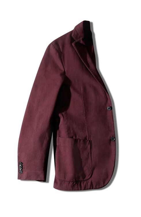 Single-breasted unlined two-button jacket in cotton and cashmere drill , Montedoro | Slowear