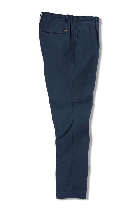 Blue jersey garment-dyed leisure trousers , Incotex - Slacks | Slowear