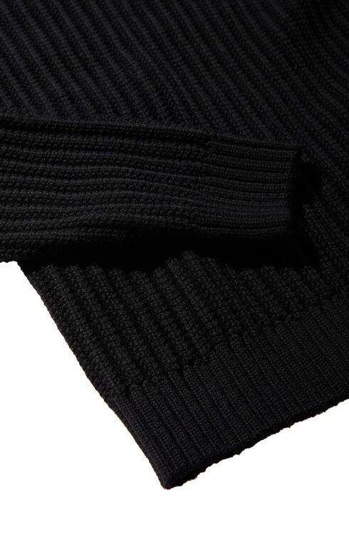 Merino wool crew-neck sweater with row-interlaced stitching , Zanone | Slowear