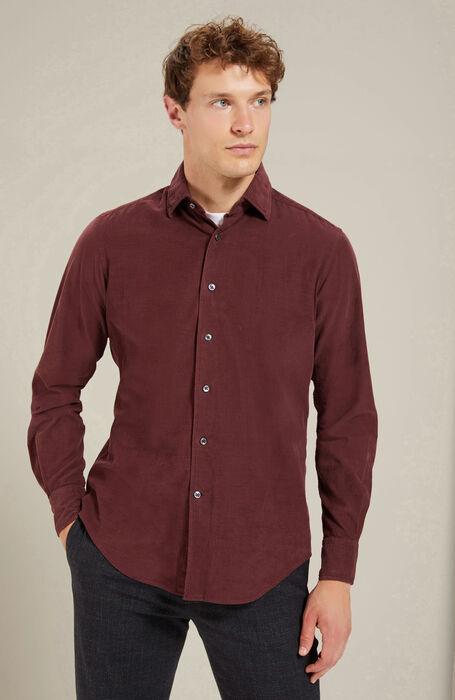 Camicia regular fit collo classico in velluto a coste , Glanshirt | Slowear