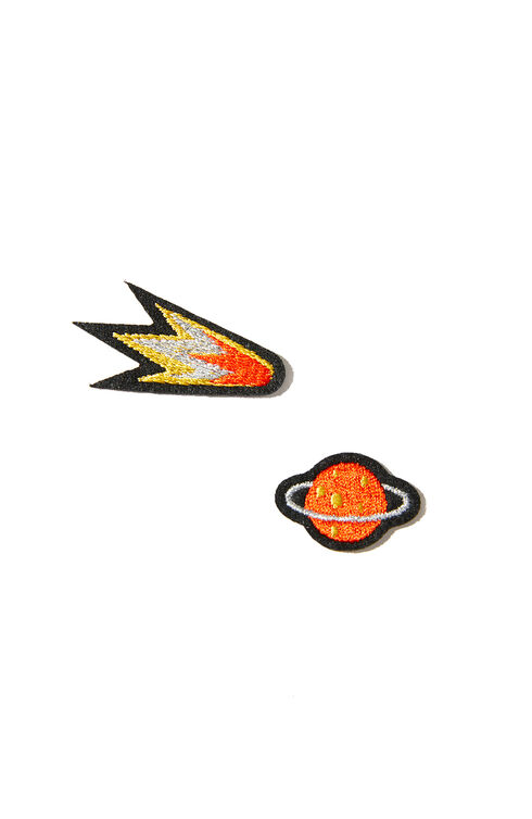 Space-motif thermoadhesive embroidered patches , Macon&Lesquoy | Slowear
