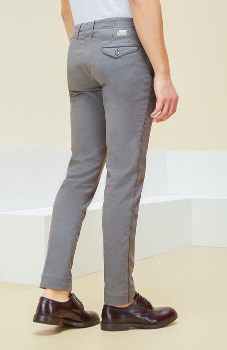 Grey slim fit stretch cotton trousers , Incotex - Slacks   Slowear