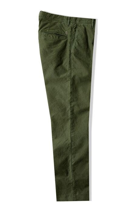 Slim Fit Green Stretch Tricochino Trousers