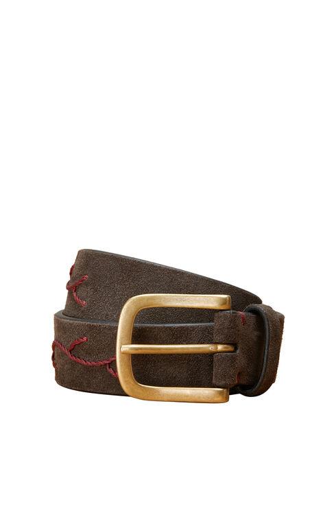Embroidered suede calfskin belt , Officina Slowear   Slowear