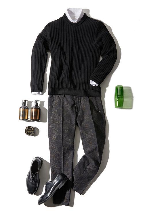 Slim fit herringbone cotton shirt with French collar , Glanshirt | Slowear