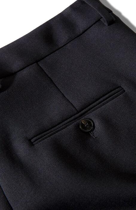 Slim fit trousers in blue two-way stretch wool , Incotex | Slowear