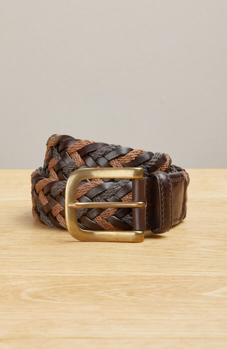 Braided leather and cotton belt , Officina Slowear | Slowear