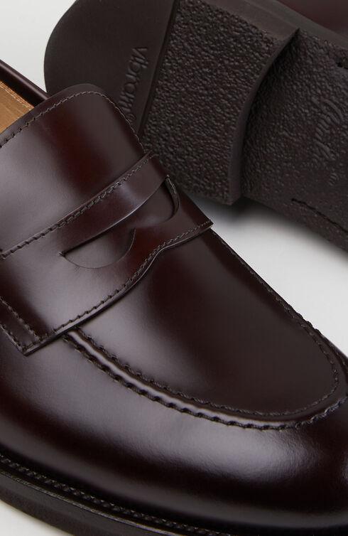 Dark brown calfskin moccasin and rubber sole , Officina Slowear | Slowear