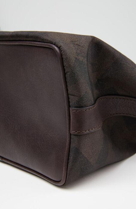 Necessaire in nylon military e dettagli in pelle , Officina Slowear | Slowear