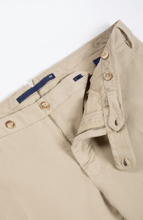 Slim-fit Doeskin beige trousers , Incotex - Venezia 1951 | Slowear