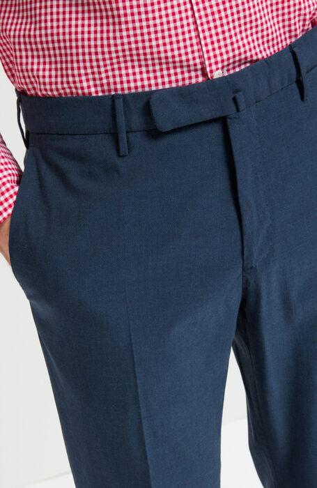 Blue Slim Fit Yarn-Dyed Cotton Crepe Trousers , Incotex - Venezia 1951   Slowear