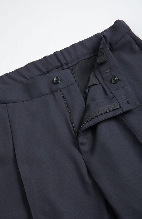 Blue Regular Fit Urban Traveller Techno Wool Trousers , Incotex - Venezia 1951 | Slowear